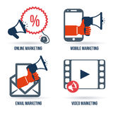 Marketing online. Design,  illustration eps10 graphic Stock Photography