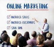 Marketing online Doelstellingen het Concept van de Planstrategie Stock Afbeeldingen