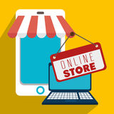 Marketing online and ecommerce sales Stock Photos