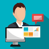 Marketing online and ecommerce sales Stock Photo