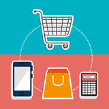 Marketing online and ecommerce sales Stock Image