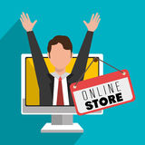 Marketing online and ecommerce sales Royalty Free Stock Photo