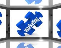 Marketing op het Scherm die TV-Publiciteit tonen Stock Afbeeldingen