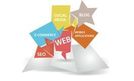 Marketing op Internet Stock Foto's