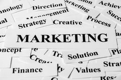 Marketing And Other Related Words Royalty Free Stock Images