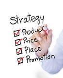 Marketing 4P principle diagram Royalty Free Stock Photography