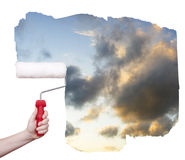 Marketing paint brush Royalty Free Stock Image