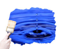 Marketing paint brush Royalty Free Stock Images
