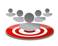 Marketing people concept target illustration Stock Images