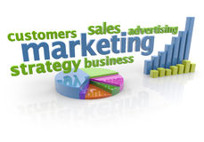Marketing plan vector illustratie