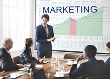 Marketing Plan Analysis Graphs Business Goals concept Royalty Free Stock Images