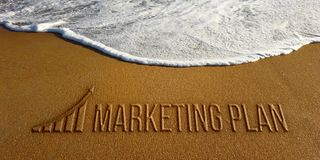 Marketing Plan in the Beach Photo Image Royalty Free Stock Photo
