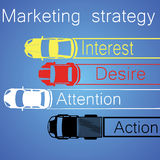 Marketing Plan by 4 car Stock Images