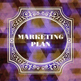 Marketing Plan Concept. Vintage design. Royalty Free Stock Photos