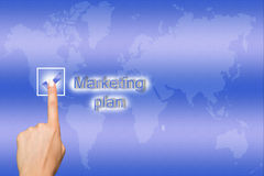 Marketing plan concept stock photography