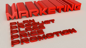 Marketing plan. 3d design of 3d words Royalty Free Stock Images