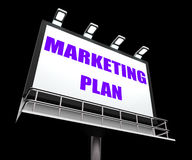 Marketing Plan Sign Refers to Financial and Sales Stock Images