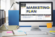 Marketing Plan Strategy Branding Advertising Commercial Concept.  royalty free stock photography