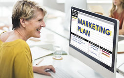 Marketing Plan Strategy Branding Advertising Commercial Concept royalty free stock photography