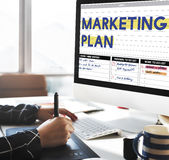 Marketing Plan Strategy Branding Advertising Commercial Concept stock images