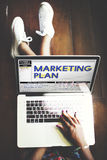 Marketing Plan Strategy Tactics Guidelines Concept Stock Image