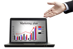 Marketing plan for success Stock Image
