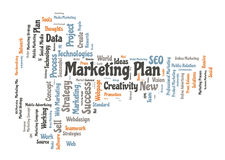 Marketing plan word cloud Stock Images