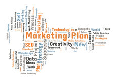 Marketing plan word cloud Royalty Free Stock Photography