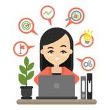 Marketing Planconcept royalty-vrije illustratie