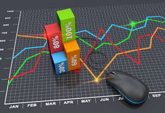 Marketing planning royalty-vrije illustratie