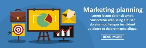 Marketing planning banner horizontal concept Royalty Free Stock Image