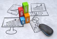 Marketing planning Stock Image