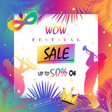 WOW SALE carnival Marketing poster royalty free illustration