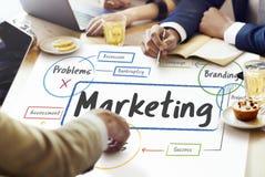 Marketing Problemen die Beoordeling Planningsconcept brandmerken stock foto