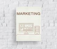 Marketing Progress Summary Analytics Computer Concept royalty free stock photos