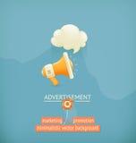 Marketing and promotion background Stock Photo
