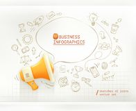 Marketing and promotion, business infographics Stock Photography