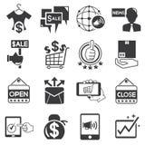 Marketing and promotion icons royalty free illustration