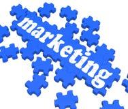 Marketing Puzzle Showing Advertising Sites royalty free illustration