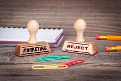 Marketing and reject, business concept Royalty Free Stock Photos