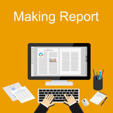 Marketing report illustration. Flat design illustration concepts for business Stock Image