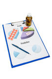 Marketing report for profit and prediction with chart Stock Photos