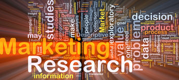Marketing research background concept glowing Stock Images