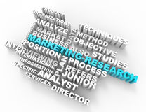 Marketing Research 3d word concept. White background Royalty Free Stock Image