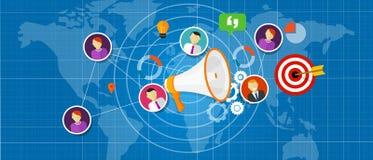 Marketing salea team international world globe Royalty Free Stock Images