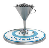 Marketing Sales or Conversion Funnel Stock Image