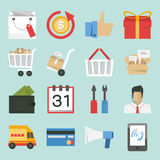 Marketing-sales icons Royalty Free Stock Photography