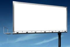 Marketing sales outdoor sign billboard. Against blue sky Stock Image