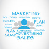 Marketing Sales Word Cloud. Abstract Background vector illustration