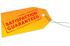 Marketing satisfaction guarantee stock illustration
